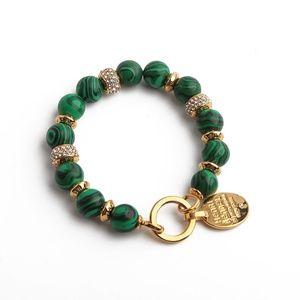 Henri Bendel Influencer GREEN Gold Bracelet